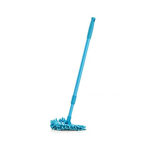 180 Degrees Rotating Clean Reach Mop - Ehonestbuy Helper Mop with Good Grips Extendable Tub, Tile Scrubber and Clean The Bathroom and Corner (Blue) ()