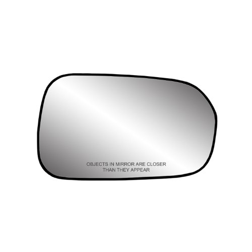 Fit System 80087 Passenger Side Non-heated Replacement Mirror Glass with Backing Plate