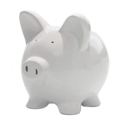 Piggy Banks, Piggy Bank for Girls Boys Kids A New for White Piggy Bank for Boys,Girls,Kids,Adult Coin Bank with DIY Sticker … (White)