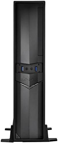 SilverStone SST-RVZ02B-W - Cabinet da Gaming serie Raven formato Mini-ITX , con finestra, nero