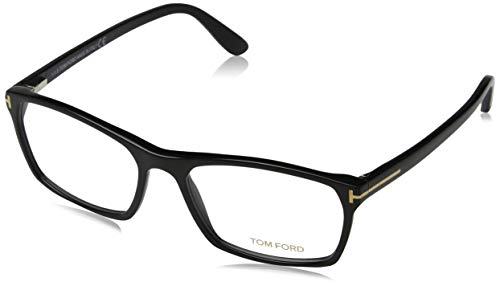 TOM FORD TF 5295 001 Shiny Black Clear Butterfly Eyeglasses 56mm