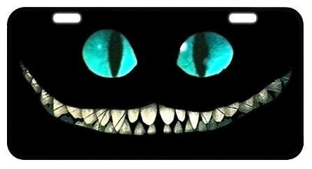 Blinking-License Plate Along With Superb Quality And Cheshire Cat Smile Face Custom License Plate Holder Durable Car Tag 11.8