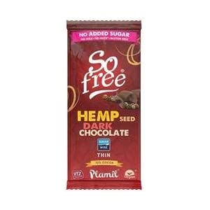 So Free No Added Sugar Hemp Dark Thin Chocolate 70...