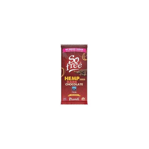 So Free No Added Sugar Hemp Dark Thin Chocolate 70g by Plamil