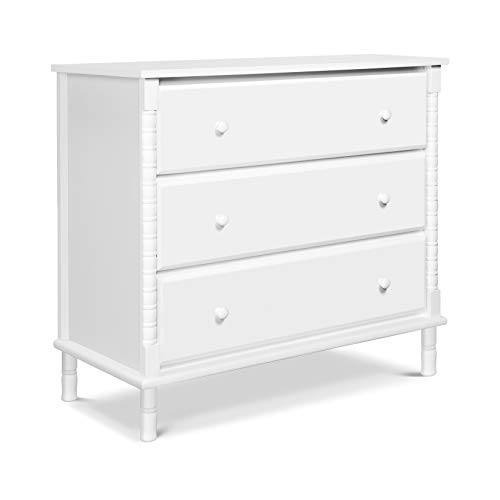 - Davinci Jenny Lind Spindle 3 Drawer Dresser, White