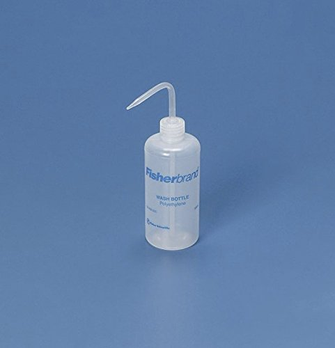 Fisher Scientific 03-409-22C Fisherbrand Translucent White Wash Bottle, LDPE, Screw PP Closure, 500mL Capacity (Pack of 6) by Fisher Scientific