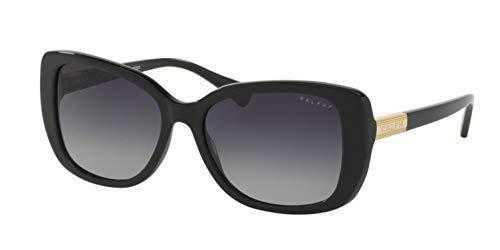 Ralph by Ralph Lauren Women's 0ra5223 Rectangular Sunglasses, BLACK POLARIZED, 57 ()