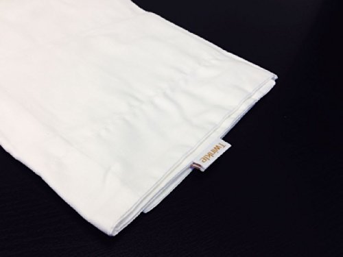 Set of 2 Twinkle 100% Cotton Pillowcase , King Size 20x40 Inches, White Pillow Protector, Hotel, School, Hospital Use, 300 Tc King Size