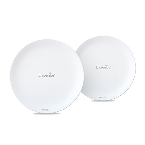 EnGenius Technologies 2.4 GHz High-Powered, Long-Distance Wireless N300 Outdoor AP/Client Bridge [2-Pack] (N-EnStation2 Kit)