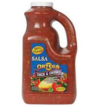 B and G Ortega Medium Thick and Chunky Salsa, 135 Ounce -- 4 per case.