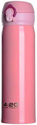 Tea & Tea 500 ml botella rosa acero inoxidable