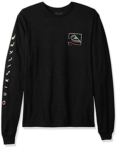 (Quiksilver Men's Quik Distortion Long Sleeve, Black, L)