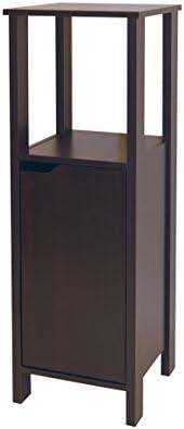 Neu Home Free Standing Floor Cabinet Bathroom Storage Wood Tower - Espresso