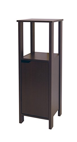 Neu Home Free Standing Floor Cabinet Bathroom Storage Wood Tower - Espresso