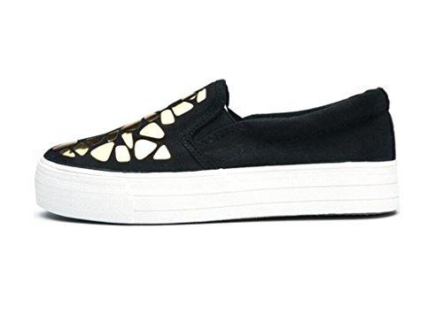 Interno Silver Studenti Nero 37 Casual Scarpe L'aumento Tempo Blackgold Movimento Lady 39 Pu Shoes Xie Confortevole Libero Bianco q6Hwtg