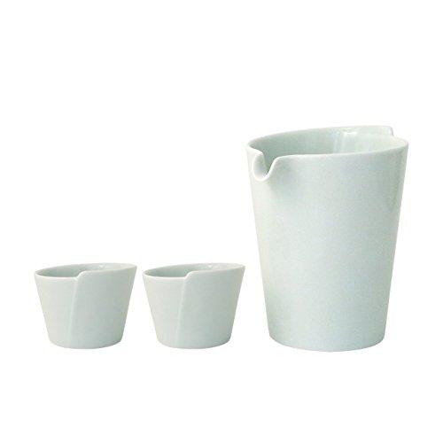 ARITA Ware Mat White SAKE Botle + SAKE Cup