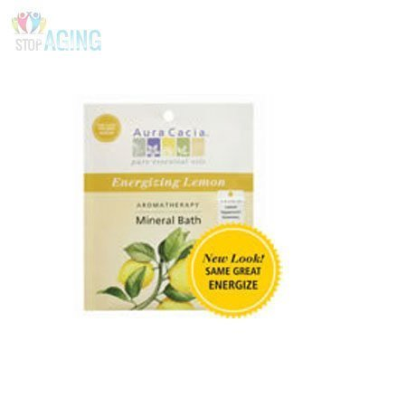 Aura Cacia Energize Aromatherapy Mineral Bath Salt, 2.5 Ounce -- 6 per case. by Aura Cacia