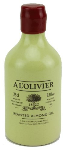 A L'Olivier French Roasted Almond Oil in Stoneware Crock, 250ml (8.3oz) by A L'Olivier
