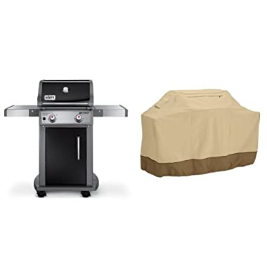 Weber 46110001 Spirit E210 Liquid Propane Gas Grill, Black with Classic Accessories Cover