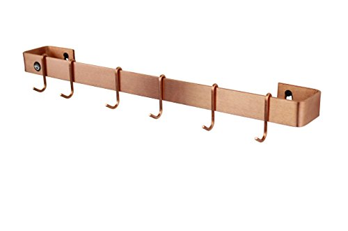 Enclume Kitchen (Enclume WR1 Scp Wall Rack Utensil Bar with 6 Hooks, 24