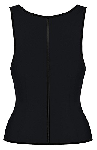 Camellias Women's Latex Girdle Vest Waist Cincher Body Shaper, SZ1991-Black-XS