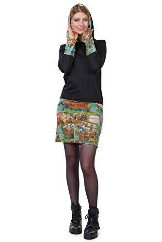 3elfen A Wimmel Capucha Invierno Con Mujer Vestidos Minfalda HqwT8HB