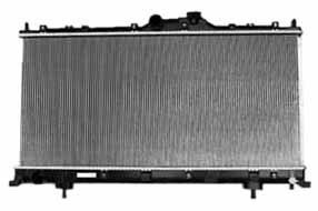 TYC 2843 Mitsubishi Eclipse 1-Row Plastic Aluminum Replacement - Eclipse Radiator 2006 Mitsubishi