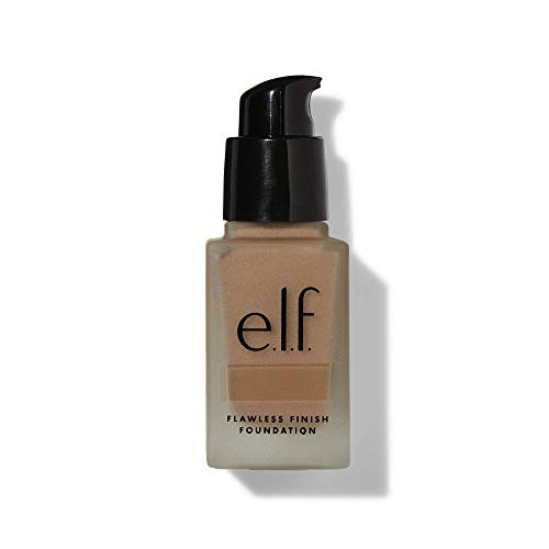 e.l.f, Flawless Finish Foundation, Lightweight, Oil-free formula, Full Coverage, Blends Naturally, Restores Uneven Skin Textures and Tones, Tan, Semi-Matte, SPF 15, All-Day Wear, 0.68 Fl Oz