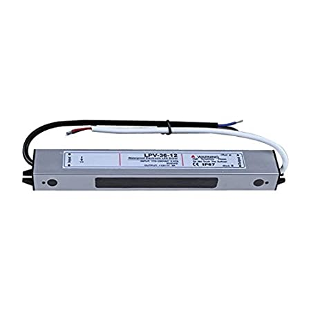 36W Waterproof LED Transformer IP67 LED Power Supply Driver Transformer Adapter 110V AC to 12V DC Low Voltage Output for LED Light Indoor Outdoor Use 36W 12V 3A