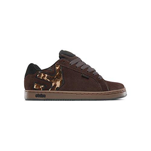 Etnies Mens Men's Fader Skate Shoe, Brown/Black/Gum, 9.5 Medium US