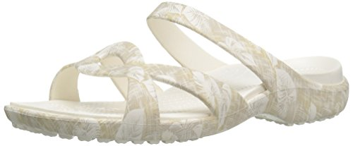 Graphic Wedge Sandal Meleen Twist Women's Tropical Crocs Cobblestone tqwa8pn