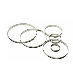 World Cuisine 309110 Stainless Steel Tart Pastry Ring, Dia. 4 In -- 4 per case
