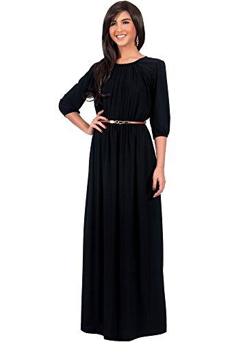 long black peasant dress - 9