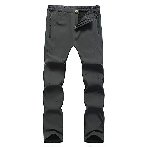 Abangoo Womens&Mens Snow Pants Winter Fleece Outdoor Hiking Pants Waterproof Ski Pants(W801)
