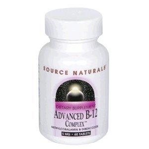 Source Naturals avancée B-12 Complex, 60 comprimés