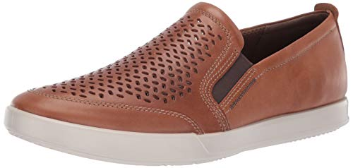 (ECCO Men's Collin 2.0 Slip On Sneaker, Cashmere Perforated, 44 M EU (10-10.5 US))
