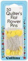 Bulk Buy: Dritz Quilter's Flat Flower Pins 50/Pkg C115 (2-Pack) by Dritz