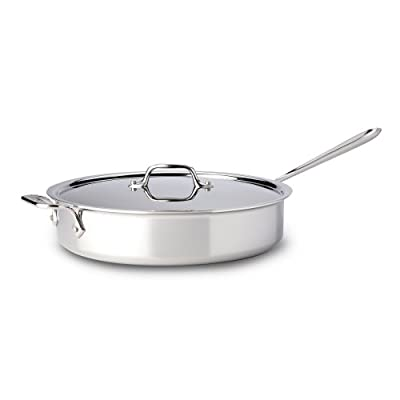 All-Clad Tri-Ply Stainless Steel Saute Pan with Lid