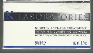 K Laboratories Nightly Anti Age Treatment Vitamin K Clarifying Complex 1.7oz