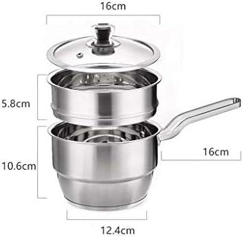 HQQ Épaississement de Pot de Lait en Acier Inoxydable ménage Pot de Pot de Nourriture pour bébé bébé antiadhésif
