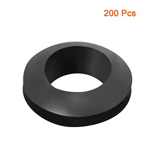 Wire Guard Oil Resistant Armor Rubber Washer 12mm Internal Diameter 200 Pieces Black