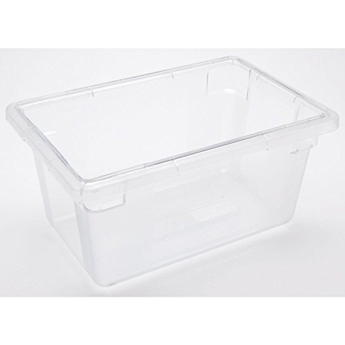 HUBERT Food Storage Box Container 5 Gallon Clear Plastic Hal