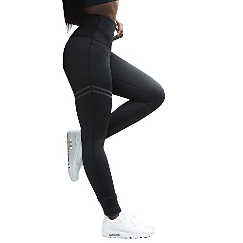 Women's Leggings Fudule Pants Women Yoga Pants Workout Running Leggings Tummy Control Pants High Waist Solid Gym Pants Black