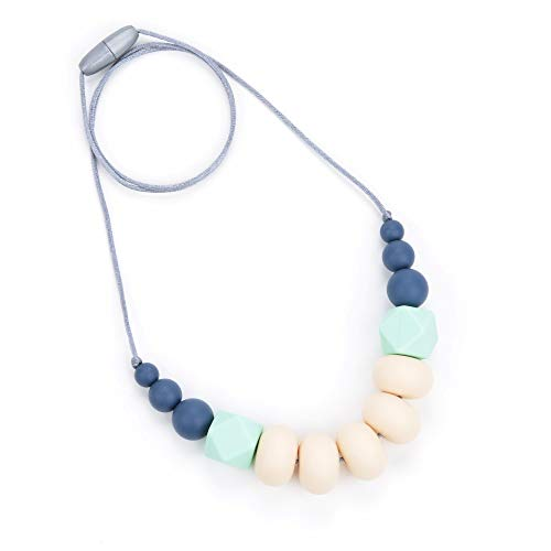 Bebe by Me 'Collins' Silicone Teething Necklace for Nursing Moms ()