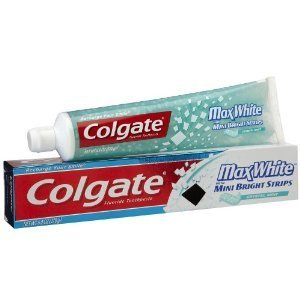 Colgate Max White Toothpaste Mini Bright Strips Crystal Mint (2 Pack)