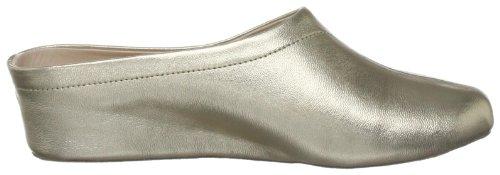 Unbekannt - Zapatillas de casa de cuero para mujer Dorado