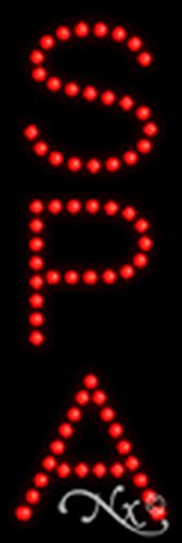 21x7x1 inches Spa Non Flashing LED Window Sign by Light Master (Image #1)
