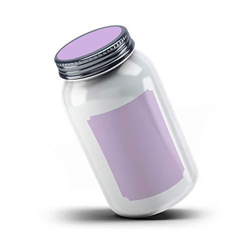 (Printable Blank Mason Jar Labels for 40 Jars and Lids, Lavender, for Inkjet and Laser Printers)