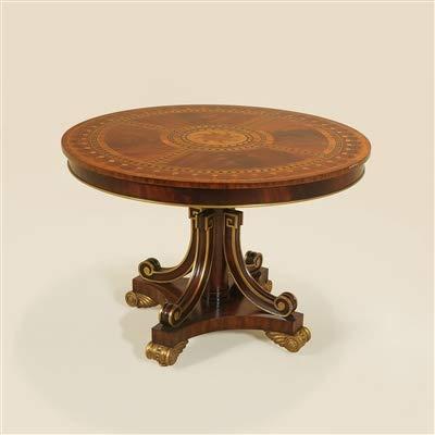MAITLAND SMITH #3630 046 Highly Inlaid Round Mahogany Center Table ~ New