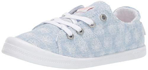 Roxy Girls' Little Mermaid RG Bayshore Slip On Sneaker Shoe, Chambray, 1 M US Big Kid ()